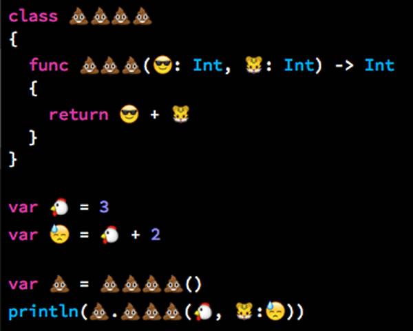 Programowanie przypomocy emoji